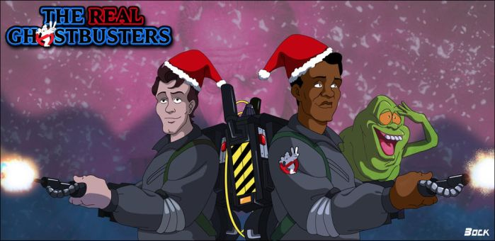 Merry Christmas Ghostbusters by MikeBock