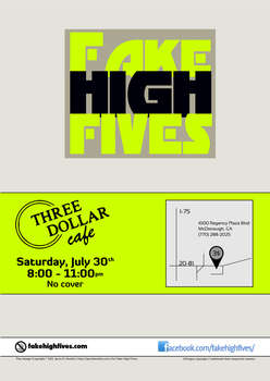 Flier for Fake High Fives 4 by ronamo