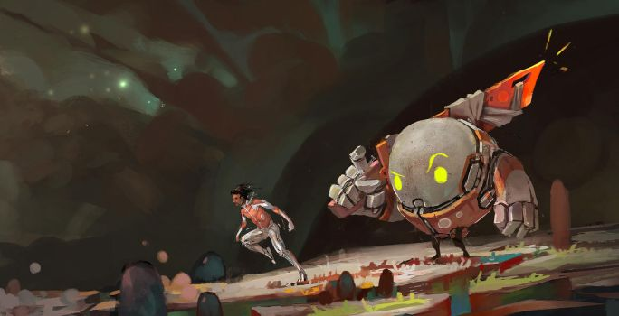 Space walk detail by norbyscook