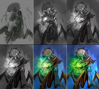 Venomancer sketch steps by namesjames