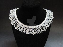 Delicate Beaded Lace Necklace by Kye595