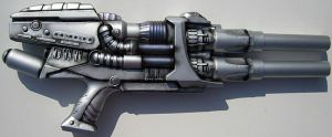Men in Black Alien Rifle by firebladecomics