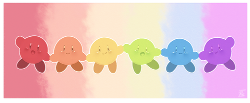 Kirby Rainbow by thepoecatcher