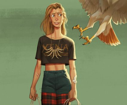 Girl Meets Hawk by shoomlah