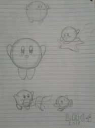 Kirby sketches by LuigiHorror64
