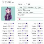 Rin's oc card by Kitkate1