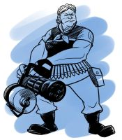 TF2 Genderswap: Heavy by jinxville