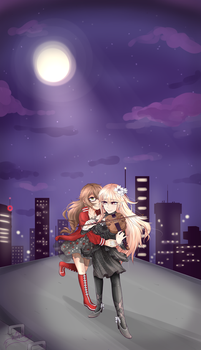 Commission - A Sweet Rooftop Romance by Ahimay-Sokamu