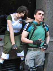 Rebecca and Chris by Chris--Redfield