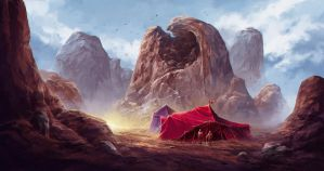 Desert camp by SolFar