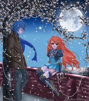 [KAITO x SF-A2 Miki] Dreaming Little Bird by LunarScent