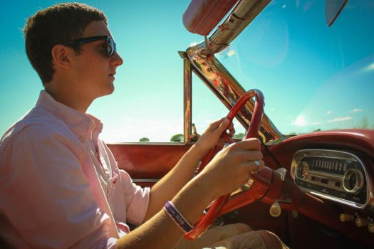 Driving in the '63 Ford Falcon by KarlieRechlin
