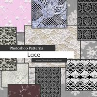 Lace Photoshop Patterns by redheadstock
