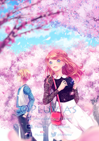Under the Cherry Blossoms by Pluvias