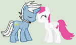 Foresight and Diamond Rose- nuzzle by Kaitkat123