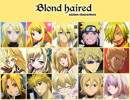 Blond haired anime characters by jonatan7