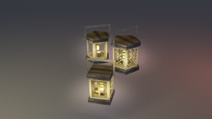 Low poly lantern by lithium-sound