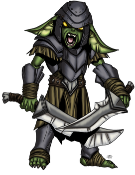 Goblin Fighter by ProdigyDuck