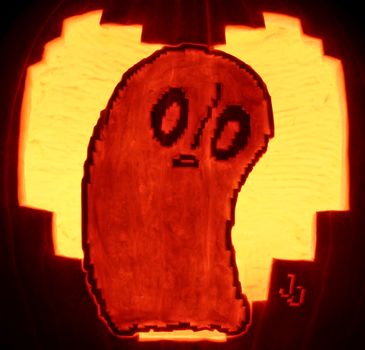 Not Feelin Up To It Right Now- Napstablook Pumpkin by johwee
