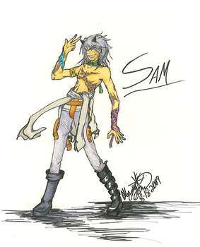 Original Character: Sam by IceCoffin