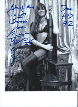 Actress Caroline Munro's Autograph by wemayberry