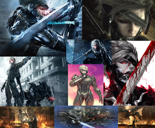 Raiden (MGR) Collage by AlwaysHunted