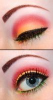 Rasta eyeshadow by Creativemakeup
