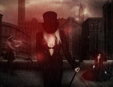 Mourning in the rain by barrena