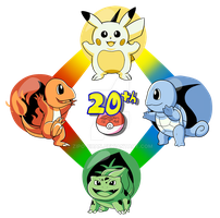 Pokemon 20th Anniversary Drawing by Zipo-Chan