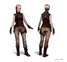 female character 2 by KEileena