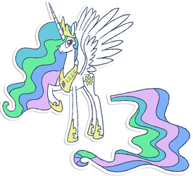 My Little Pony - Pin the tail on Celestia by kaizerin