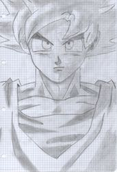Goku Super Sayan God Drawing by xDome