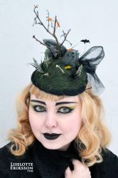 R.I.P. fascinator/hat by liselotte-eriksson