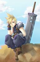 Cloud Strife by Linebine