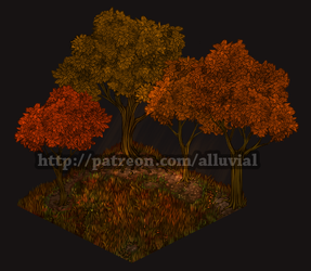 Gumroad: Autumn Woods (Base Tier) by Alluvial