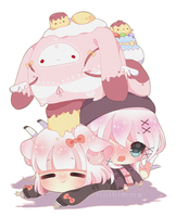 [oc] pile of gelatins friends by rinihimme