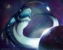 Super fucking Eel in Space by Valexi