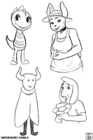 Undertale: Sketches by Shrineheart