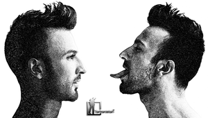 Tarkan | Two Faces | Charcoal Drawing by Tarkanistan