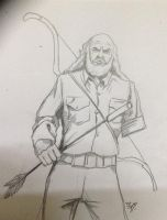Oliver Queen daily sketch challenge by mrinal-rai