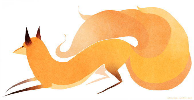 Kitsune by griffling