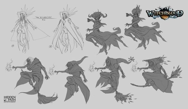Twin Witches Early Concepts by JohnoftheNorth