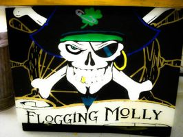 flogging molly DESK PAINTING by CarlosstART15