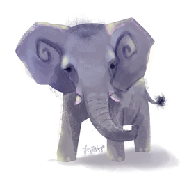 Baby Elephant by revois