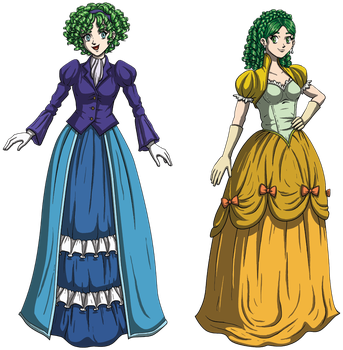 Nino and Rebecca: Fancy Fire Emblem Females by DeathbyChiasmus