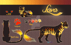 Tiger Adoptable auction//Lava//CLOSED by Belliko-art