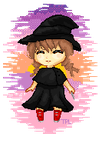 [Sunset Witch] Pixel Art by The-Pocket-Llama
