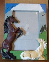 5x7 Horse Picture Frame by ElkStarRanchArtwork