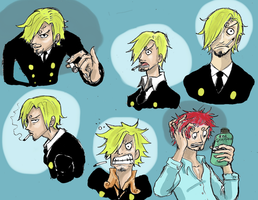 one piece, sanji expression by heivais