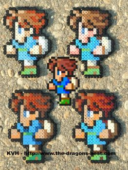 Perler Bead FFV Butz or Bartz by pinkdramon